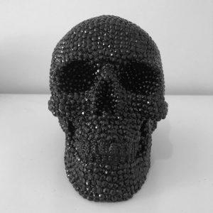 Black Rhinestone Skull by Haus of Skulls
