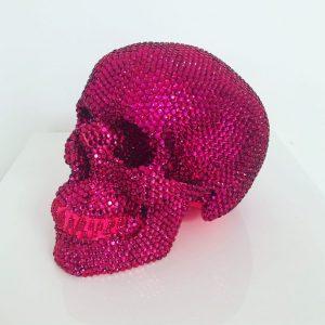 Pink Rhinestone Skull by Haus of Skulls