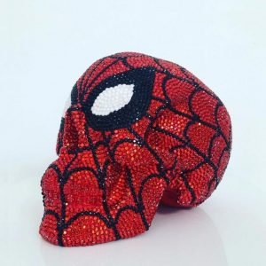 Spider-man Rhinestone Skull by Haus of Skulls