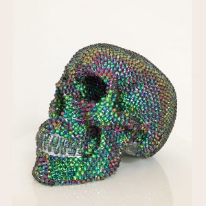 Green Flare Rhinestone Skull by Haus of Skulls