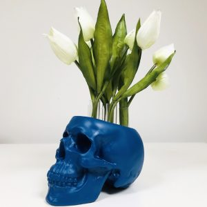 Test Tube Flower Skull by Haus of Skulls