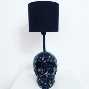 Handmade Marble Effect Lamp by Haus of Skulls