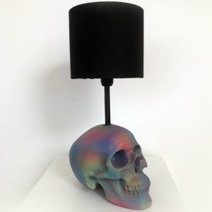 Handmade Rainbow Splatter Lamp by Haus of Skulls