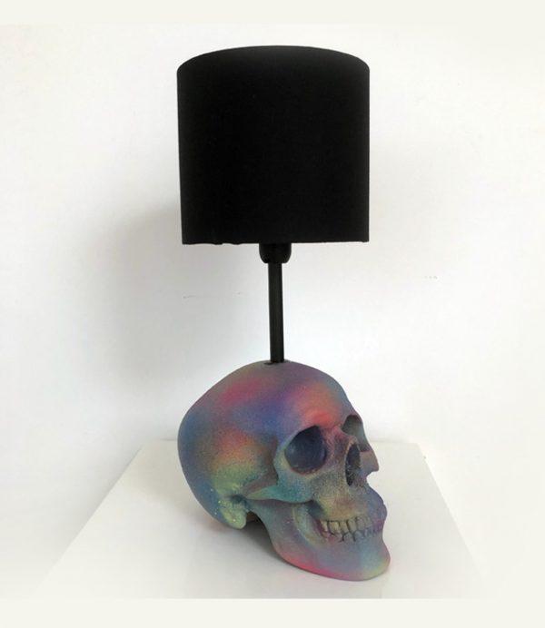 Handmade Rainbow Splatter Lamp by Haus of Skulls