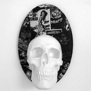 Skull Wall Plaque / Candle Holder by Haus of Skulls