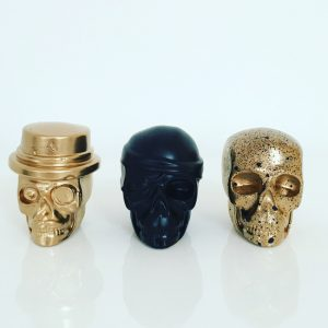 The 3 Amigos! Gold Mix Skulls by Haus of Skulls