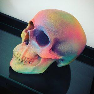 Rainbow Splatter Skull by Haus of Skulls