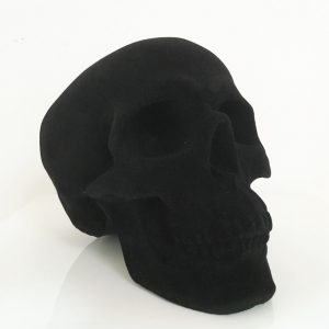 Handmade Flock Skull by Haus of Skulls