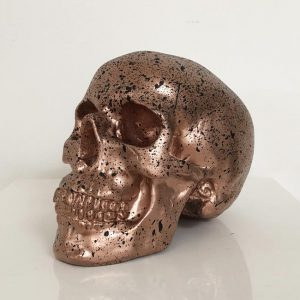 Rose Gold & Black Splatter Skull by Haus of Skulls
