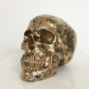Gold Marble Skull by Haus of Skulls
