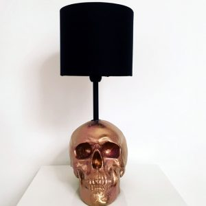 Handmade Gold & Pink Splatter Lamp by Haus of Skulls