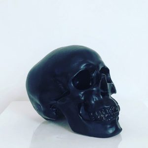 Black Handmade Skull by Haus of Skulls