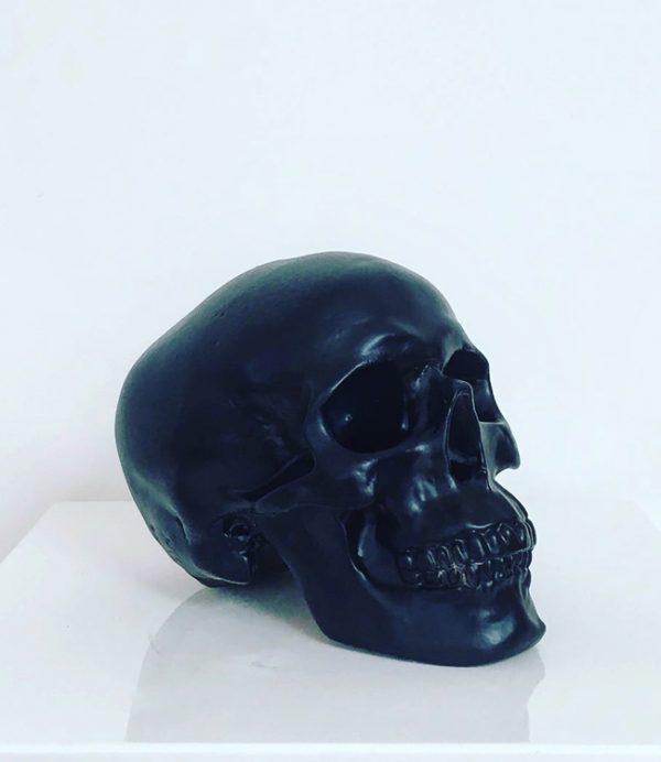 Black Handmade Skull by Haus of Skulls