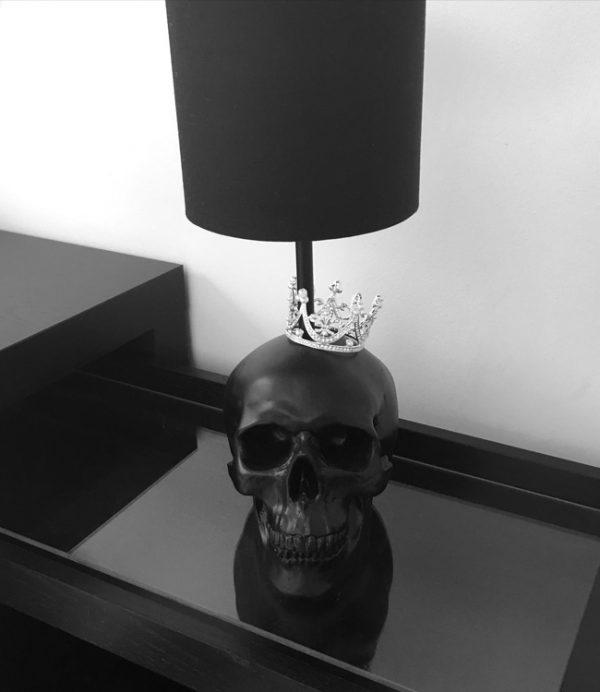 Handmade Skull Crown Lamp by Haus of Skulls