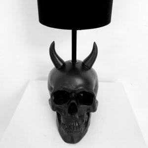 Handmade Devil Skull Lamp by Haus of Skulls