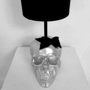 Handmade Mrs Skull Lamp by Haus of Skulls