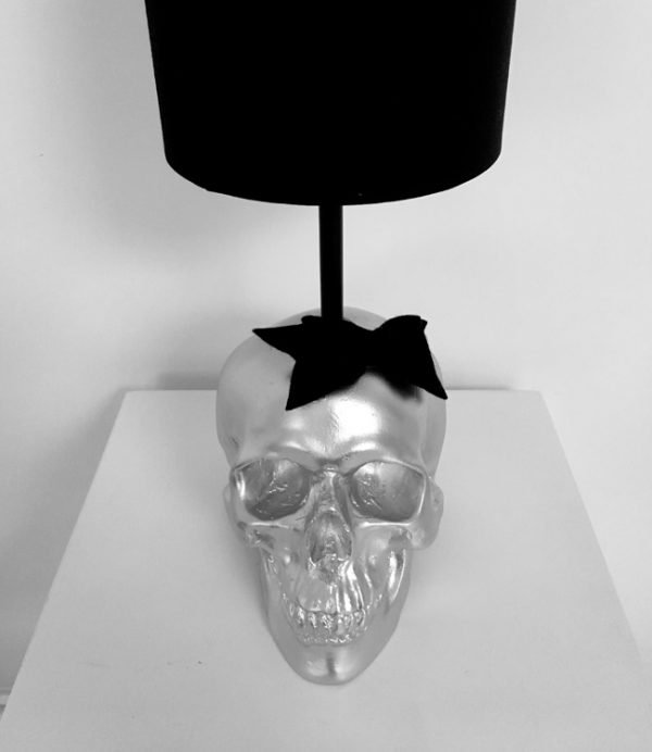 Handmade Mrs Skull Lamp by Haus of Skulls