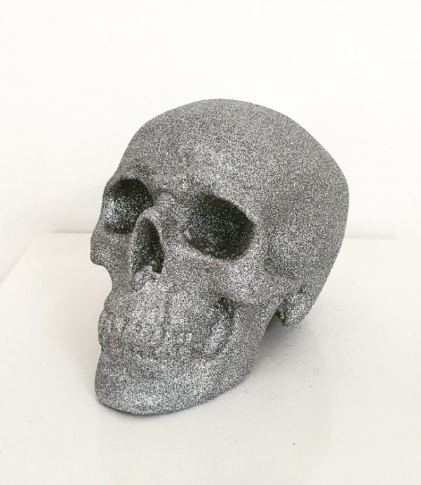 Silver Glitter Skull by Haus of Skulls