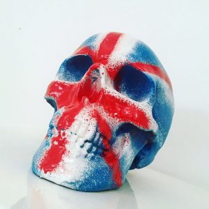 Union Jack Skull by Haus of Skulls