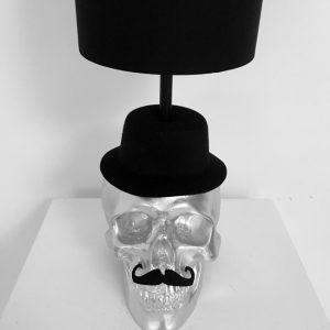 Handmade Mr Skull Lamp by Haus of Skulls