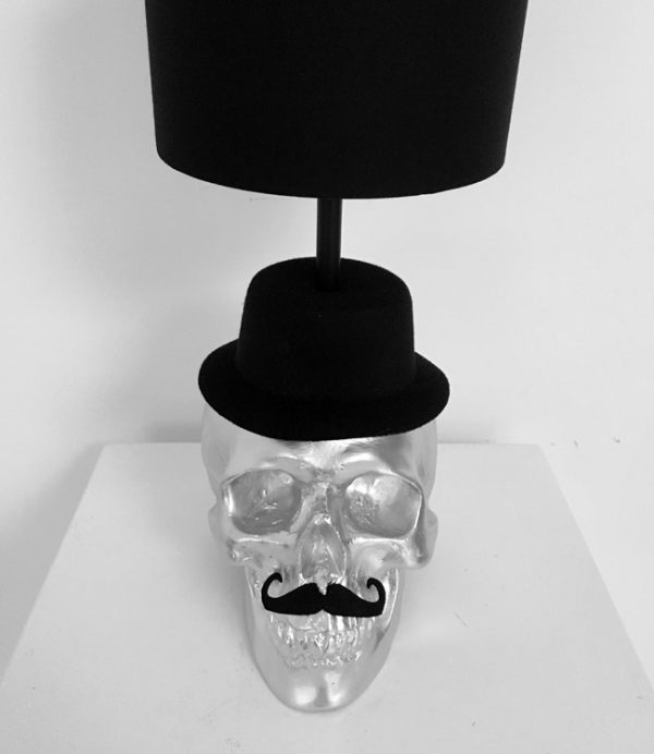 Handmade Mr Skull Lamp by Haus of Skulls