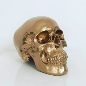 Gold Handmade Skull by Haus of Skulls