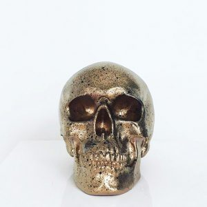 Gold & Black Splatter Skull by Haus of Skulls