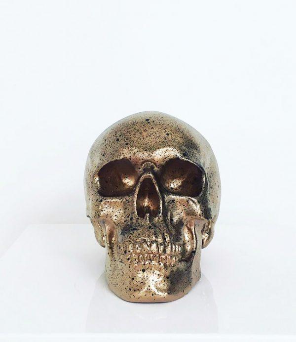 Gold & Black Splatter Skull by Haus of Skulls