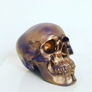 Gold & Purple Splatter Skull by Haus of Skulls