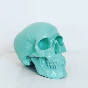 Light Green Handmade Skull by Haus of Skulls