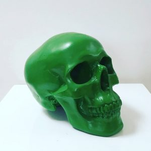 Green Handmade Skull by Haus of Skulls