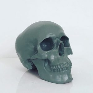 Grey Handmade Skull by Haus of Skulls