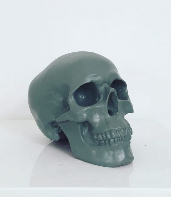 Grey Handmade Skull by Haus of Skulls