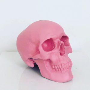 Pink Handmade Skull by Haus of Skulls