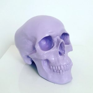 Lilac Handmade Skull by Haus of Skulls