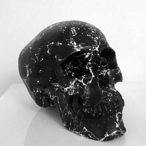 Black Marble Skull by Haus of Skulls