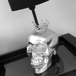 Handmade Skull Crown Lamp by Haus of Skulls