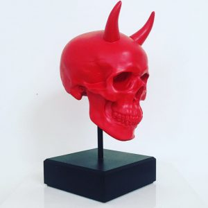 Devil Skull on Plinth by Haus of Skulls