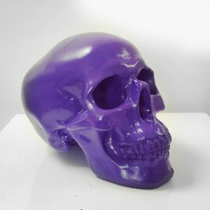 Purple Handmade Skull by Haus of Skulls
