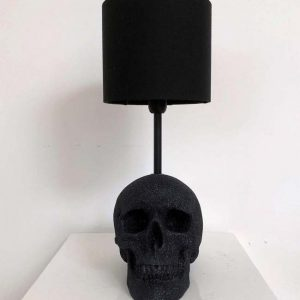 Handmade Glitter Skull Lamp by Haus of Skulls