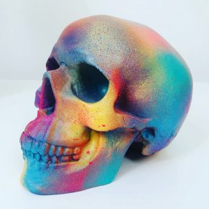 Rainbow Splatter Skull by Haus of Skulls