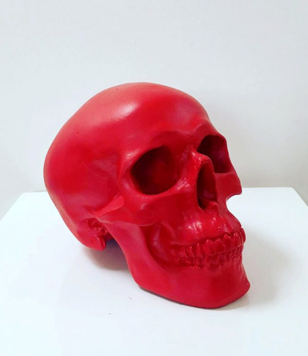 Red Handmade Skull by Haus of Skulls