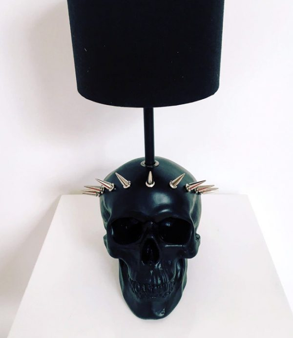 Handmade Liberty Skull Lamp by Haus of Skulls