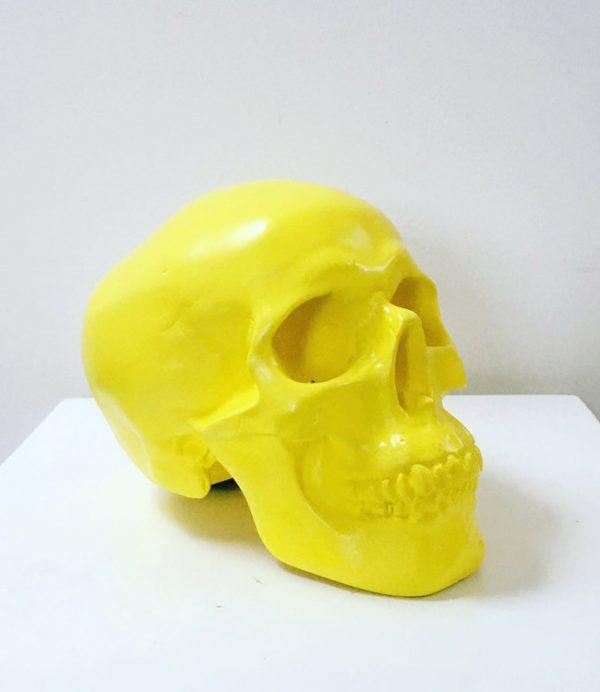 Yellow Handmade Skull by Haus of Skulls