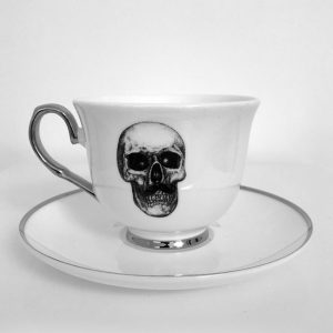 Mr Skull Cup & Saucer by Haus of Skulls