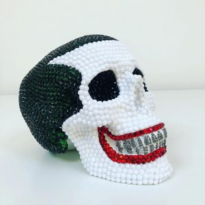 Joker Rhinestone Skull by Haus of Skulls