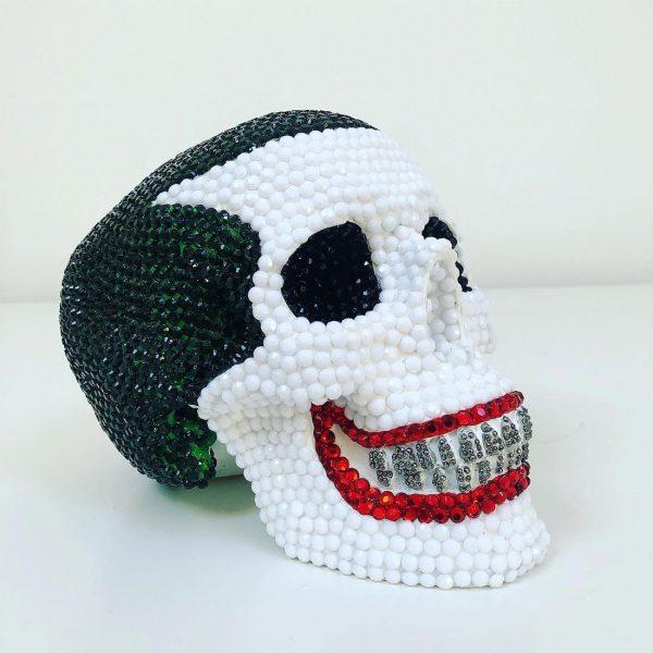 Joker Rhinestone Skull by Haus of Skulls
