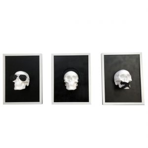 See no evil, Hear no evil, Speak no Evil Skulls by Haus of Skulls