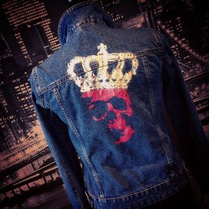 Up-cycled denim jacket by Haus of Skulls