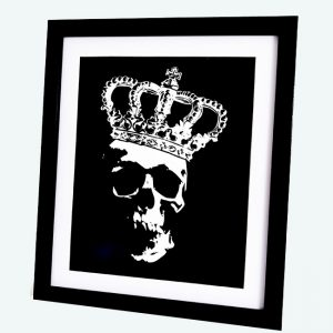 White Skull Crown Print by Haus of Skulls